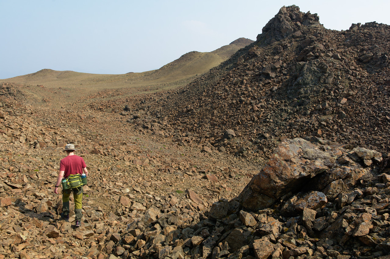 Hiking to the summit of Mt. Thoro