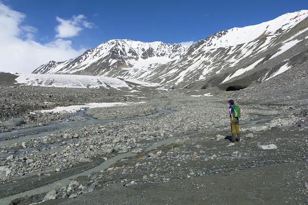 Approaching the Gulkana Glacier