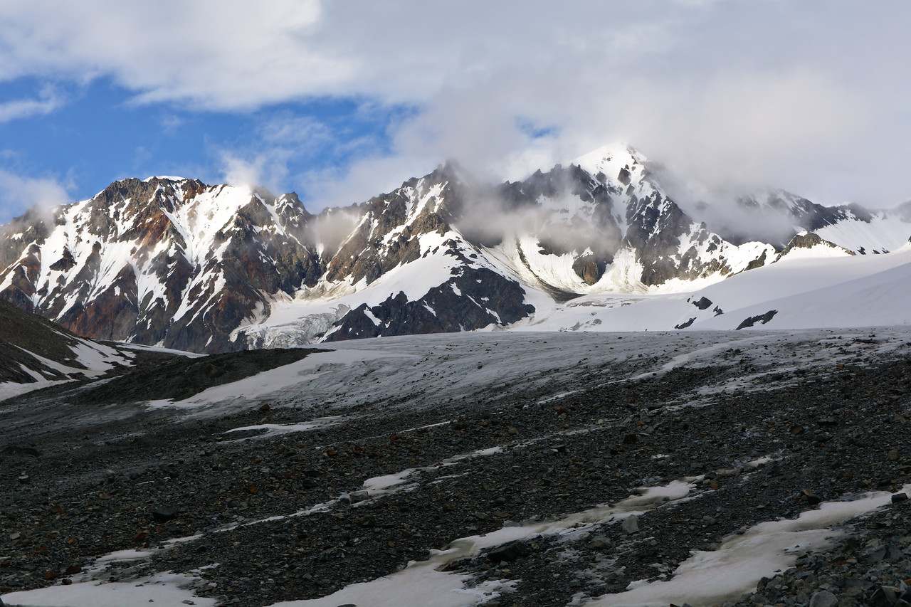 College Glacier and Peak 8100 in the Alaska Range