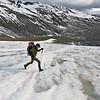 Crossing wet snow