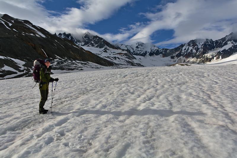8 pm on College Glacier