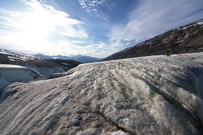 Looking down-glacier