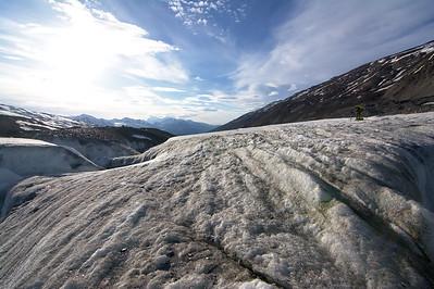 Looking down-glacier