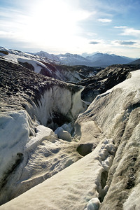 Ice Canyon and Waterfall