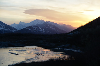 Alaska Range Sunset