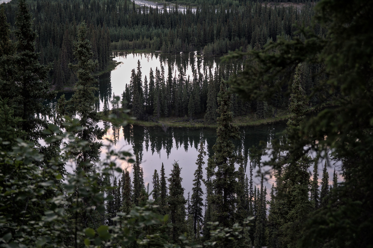 Horseshoe Lake from the trail above