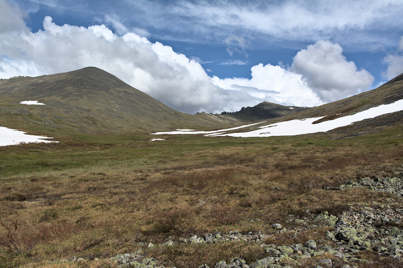 Ridge and first set of tors on the hike up Mt. Prindle from Nome Creek.