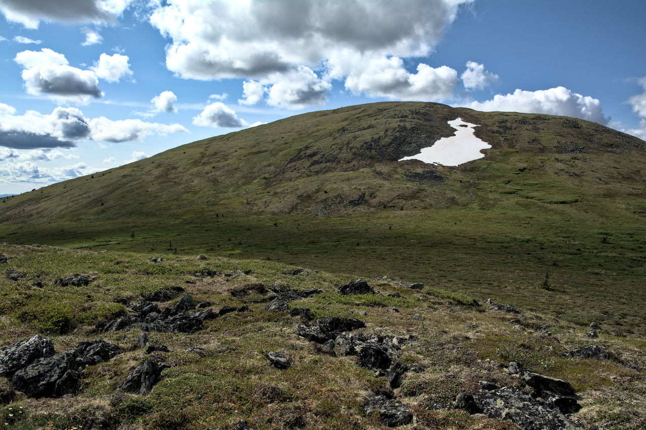 The first dome on the way up McManus Mountain