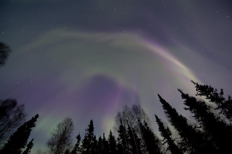 April 16-17 - Aurora Borealis over Fairbanks, Alaska