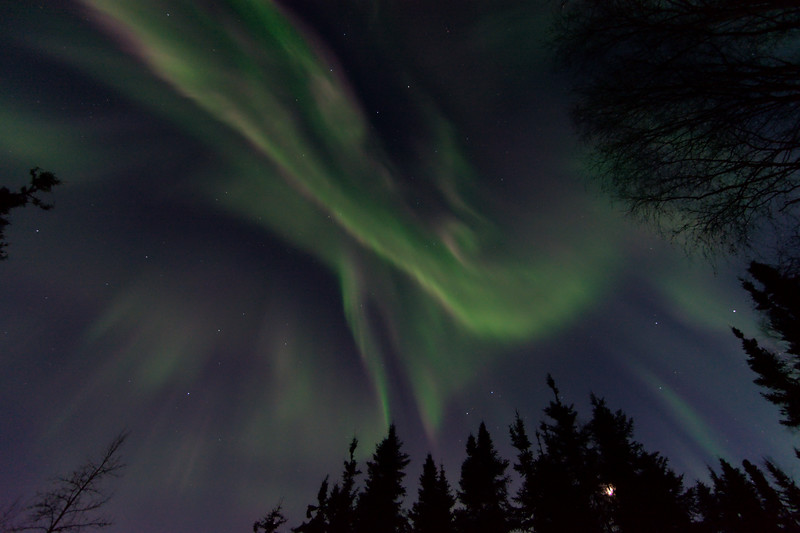 April 18, 2021 - Aurora Borealis over Fairbanks, Alaska