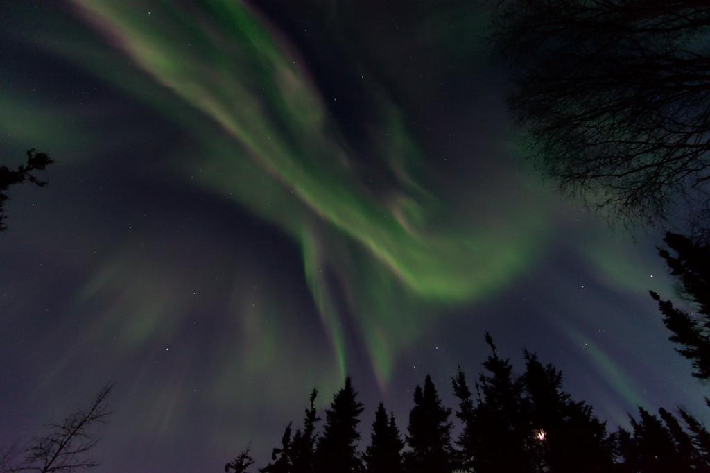 April 18, 2021 - Aurora Borealis over Fairbanks, Alaska