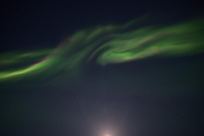 Corona display - northern lights directly overhead