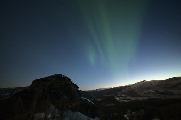 Granite and aurora
