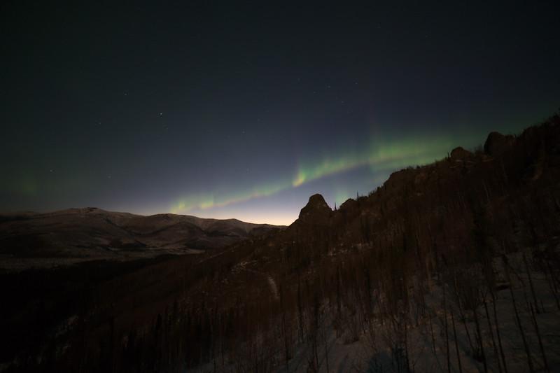 Lingering northern lights