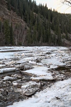 Salcha River Ice Jam