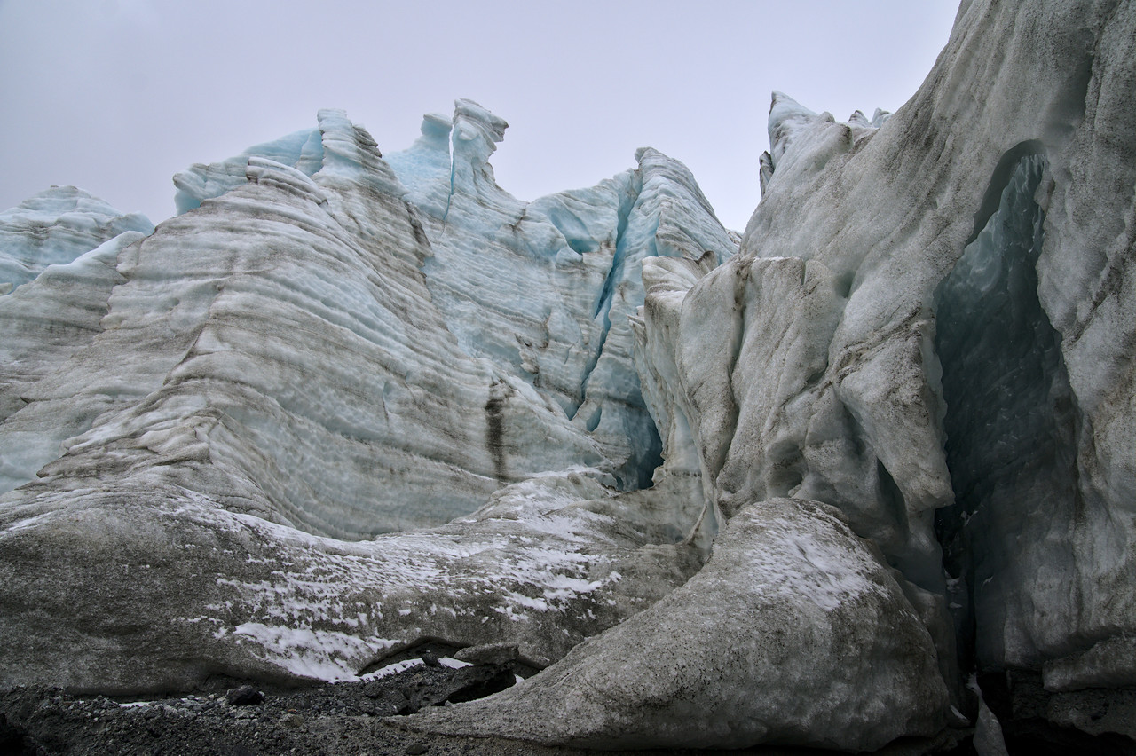 Seracs in the Gabriel Icefall
