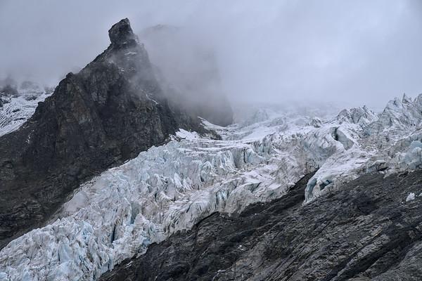 Fog, Mountain, Icefall
