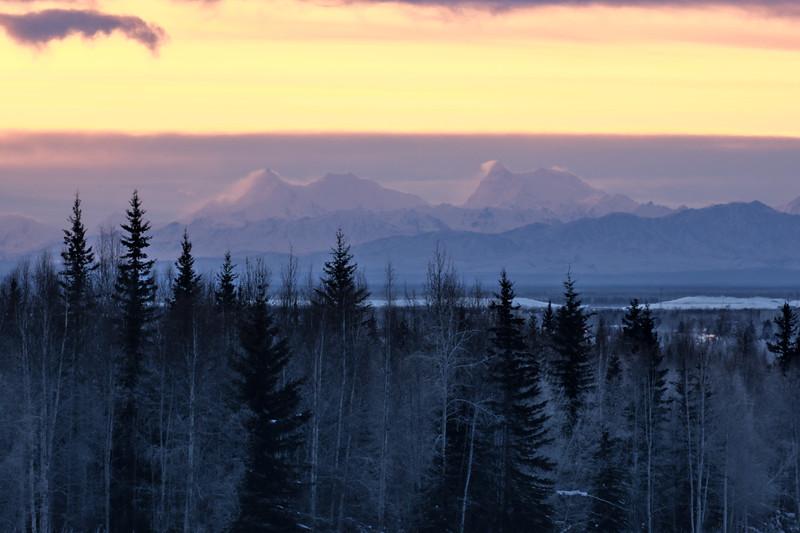 Hess and deborah mountains from Fairbanks, Alaska