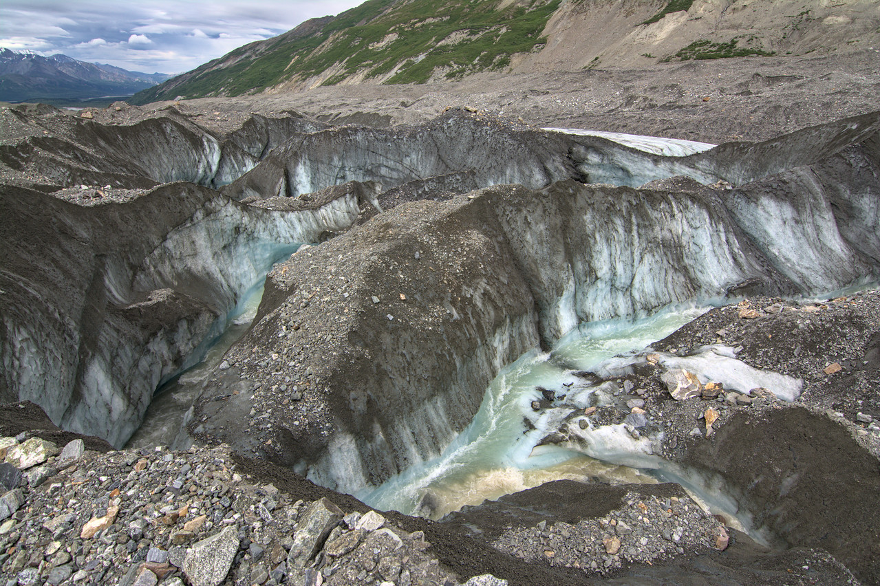 Ice canyon in the Canwell Glacier