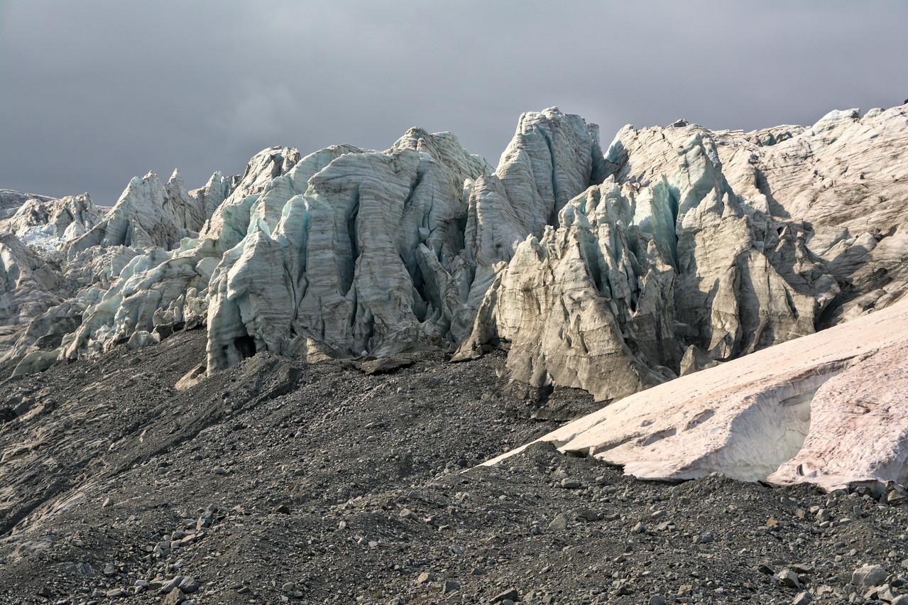 Photos of glacier icefall