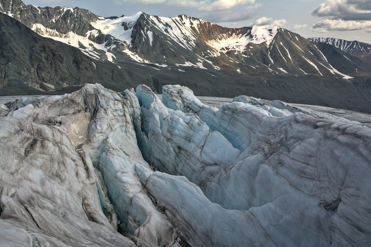 Crevasses above the Gabriel Icefall