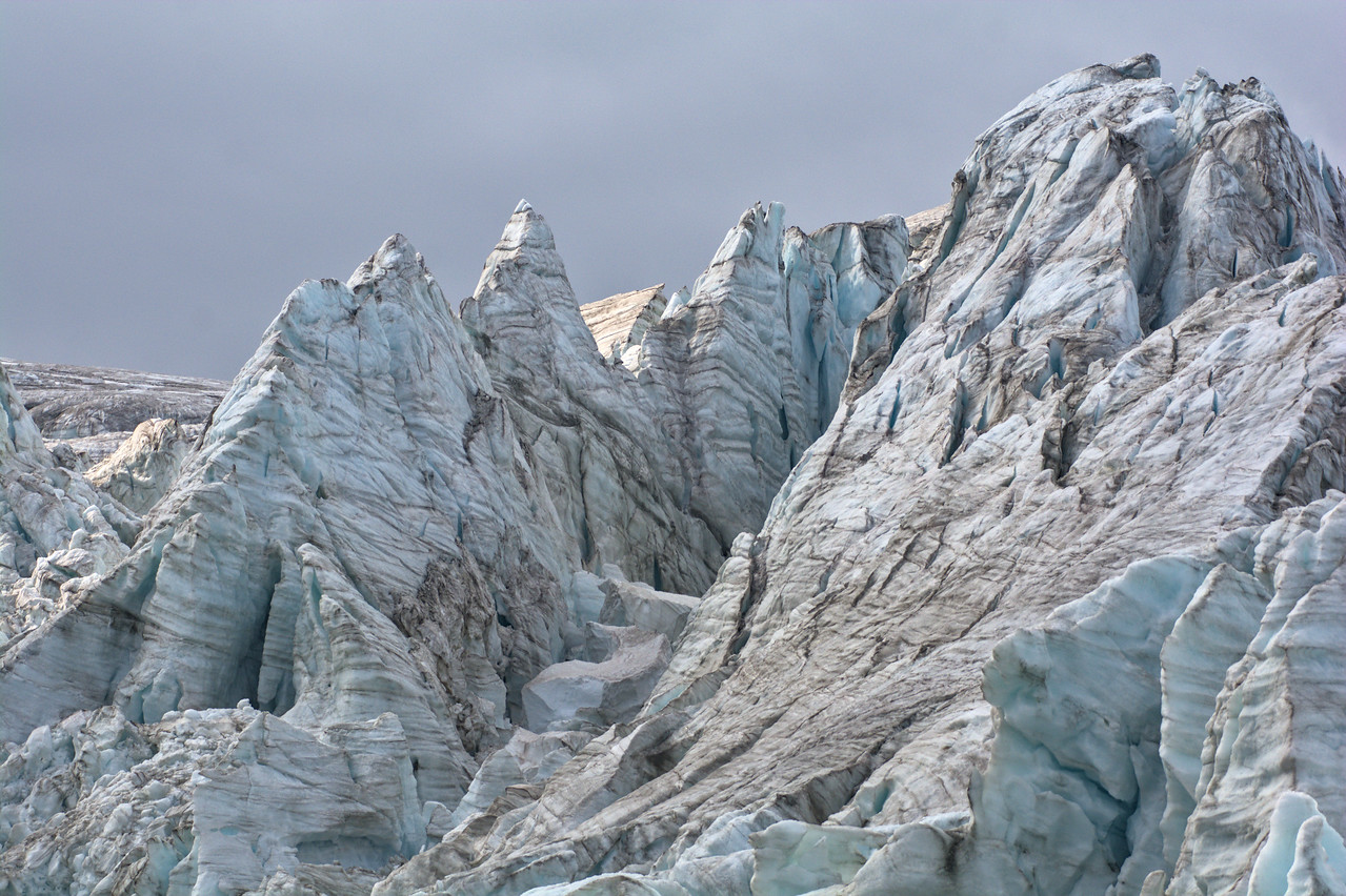 Ice towers in the glacier icefall