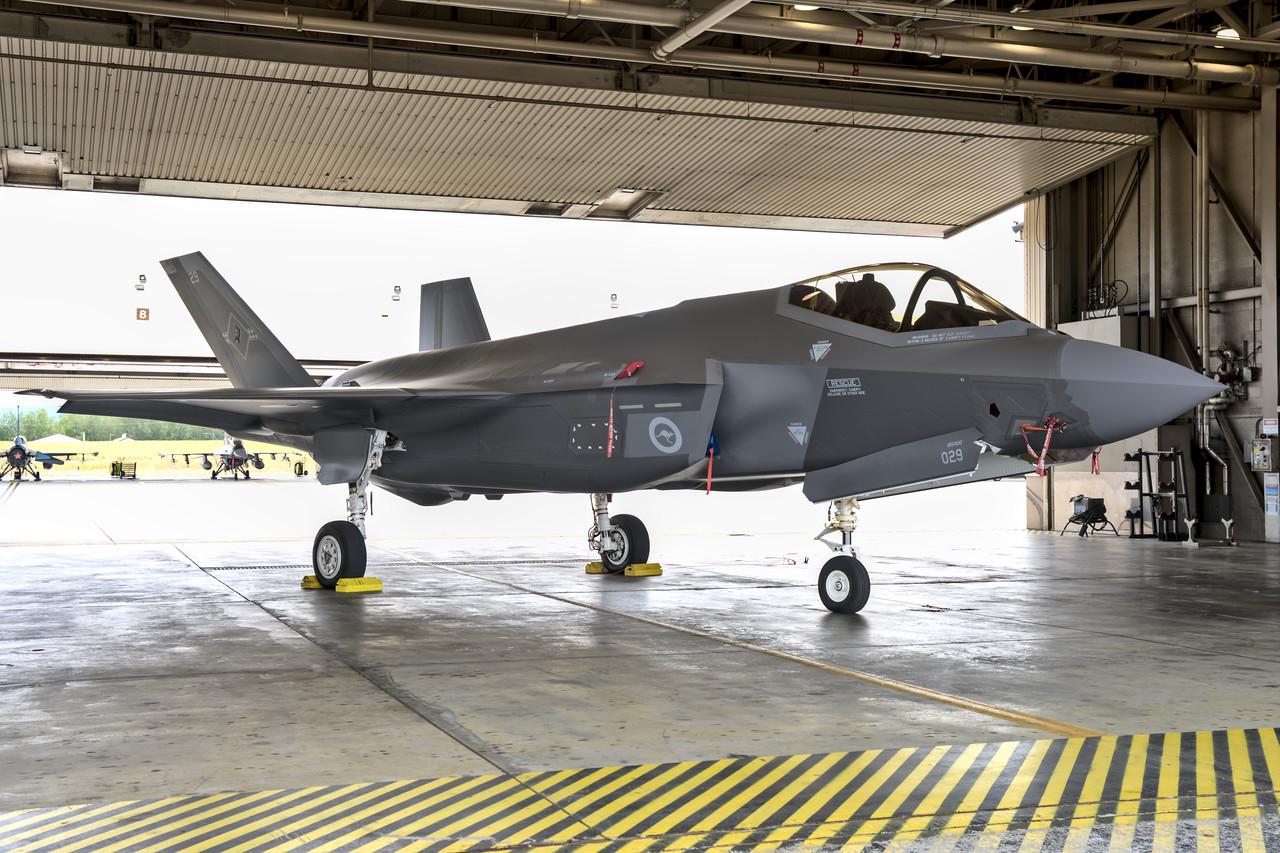 F-35 Lightning II in hanger