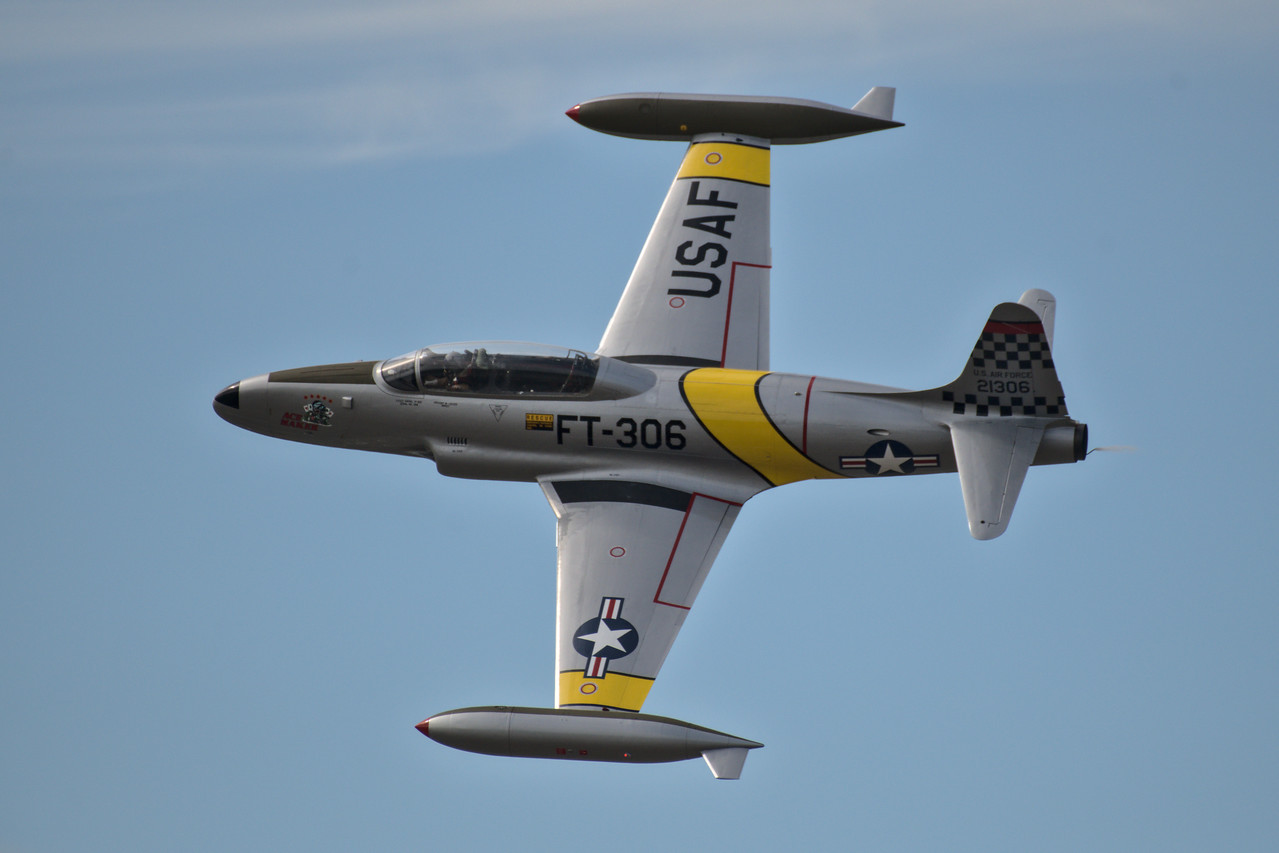 T-33 Acemaker in flight at the Arctic Lightning Air Show