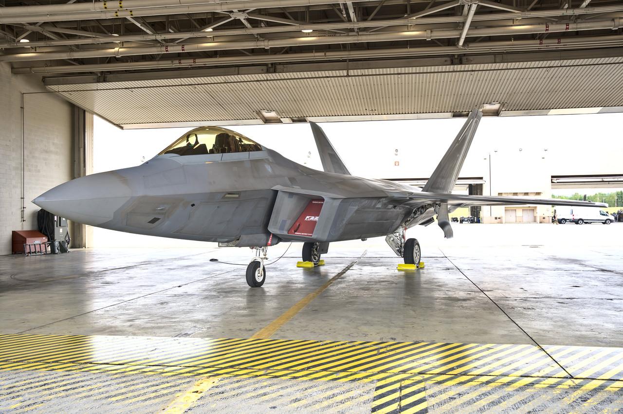 F-22 Raptor in Hanger