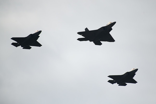 F-35 and F-22 Flyover