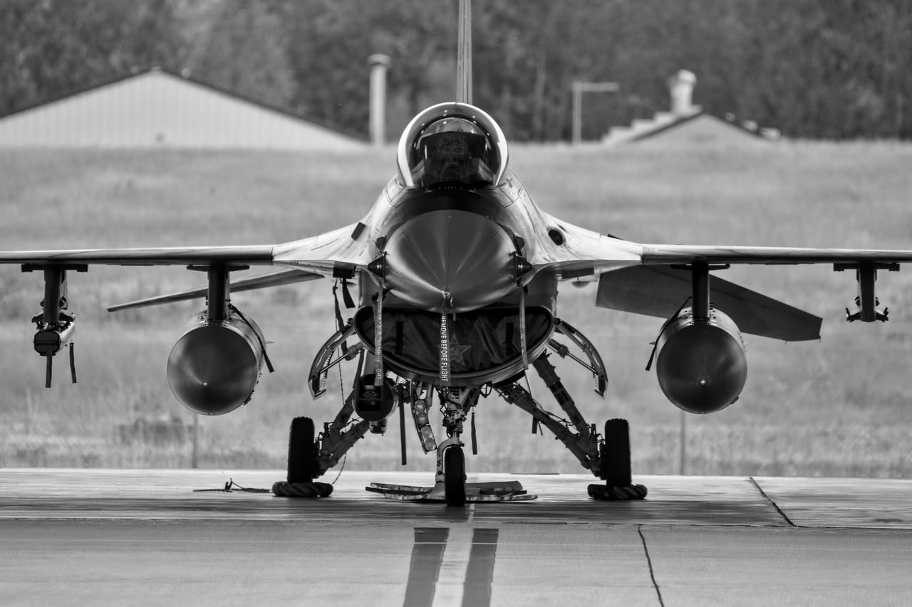F-16 in hanger