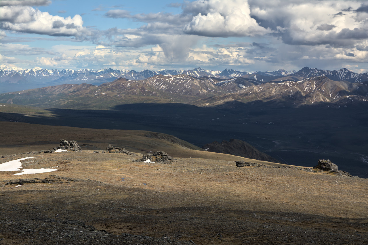 The tor dotted tundra from Mt. Margaret