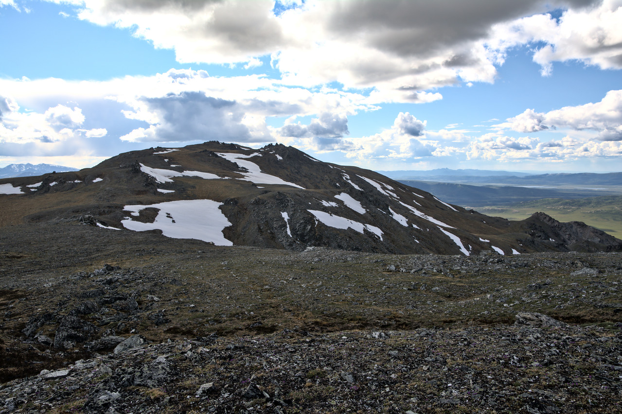 The view of Mt. Margaret after gaining the ridge