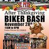 After Thanksgiving Biker Bash Nov 28 11am -6pm 555 34th St S st pete