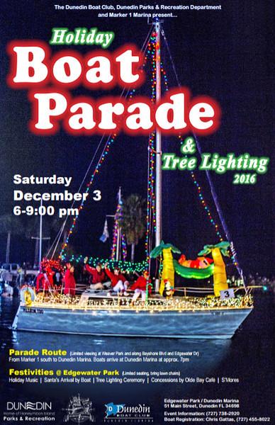 Dunedin Boat Parade Poster 2016