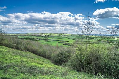 Looking towards Glastonbury Tor