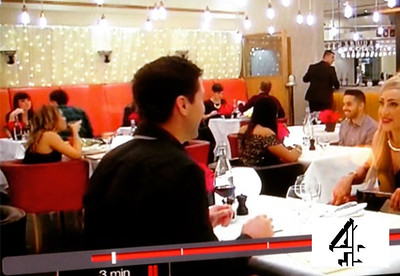 Channel 4, First Dates restaurant, background dater, series 3
