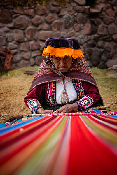 Peruvian woman weaver
