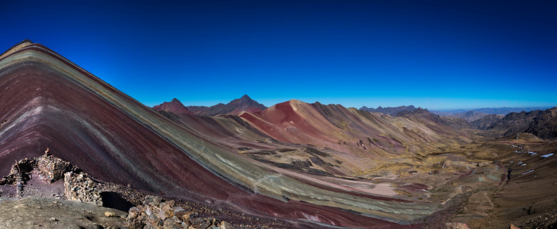 Vinicunca, Rainbow Mountain Panoramic