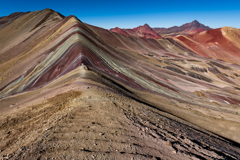Vinicunca Mountain or  The Rainbow Mountain of Peru.