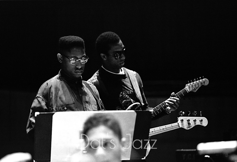 88/2010DARYL JONES & HIRAM BULLOCK5 May 1988Royal Festival HallLondonGil Evans Memorial Concert©Derick A. Thomas/Dat's jazz Picture Library