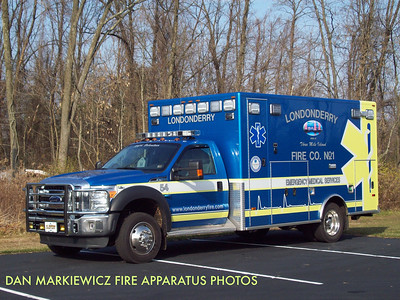 LONDONDERRY FIRE CO. AMBULANCE 54 2012 FORD/P&L BLS AMBULANCE
