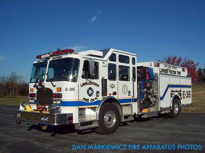 LINGLESTOWN FIRE CO. ENGINE 35 2000 KME PUMPER