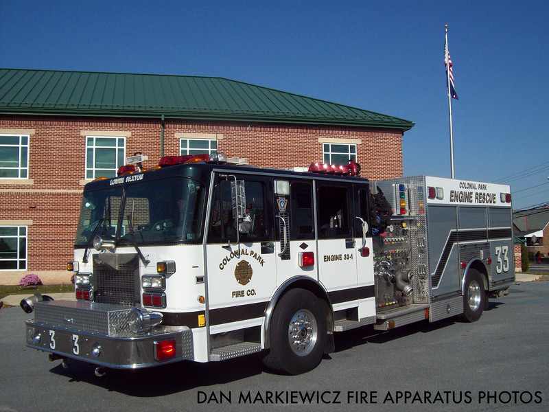COLONIAL PARK FIRE CO. ENGINE 331 2000 SPARTAN/KME PUMPER RESCUE