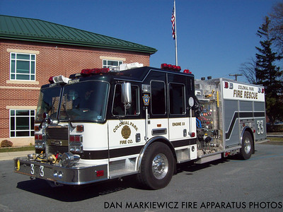 COLONIAL PARK FIRE CO. ENGINE 33 2008 KME PUMPER