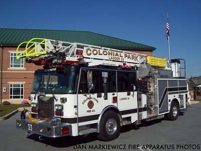 COLONIAL PARK FIRE CO. TRUCK 33 1998 SPARTAN/LTI AERIAL QUINT