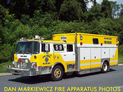 LOWER SWATARA FIRE DEPT. FORMER RESCUE 59 1975 MACK CF/1990 RANGER HEAVY RESCUE