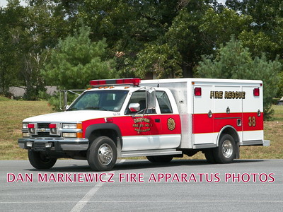 DAUPHIN MIDDLE PAXTON FIRE CO. SPECIAL UNIT 38 1994 CHEVY/NEV UTILITY