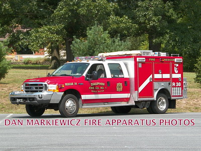 DAUPHIN MIDDLE PAXTON FIRE CO. RESCUE 38 1999 FORD/YANKEE LIGHT RESCUE