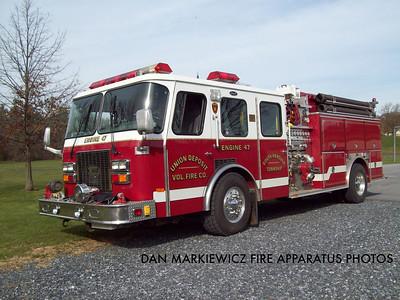 UNION DEPOSIT FIRE CO. ENGINE 47-1 1992 E-ONE PUMPER